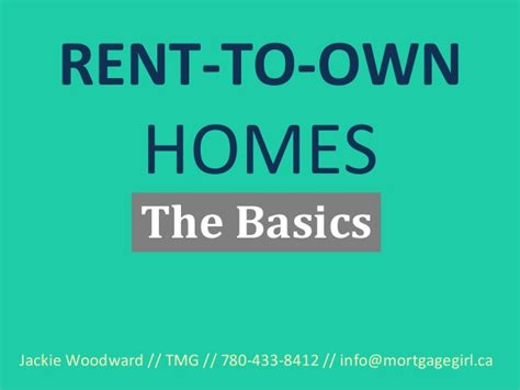 rent to own homes the basics