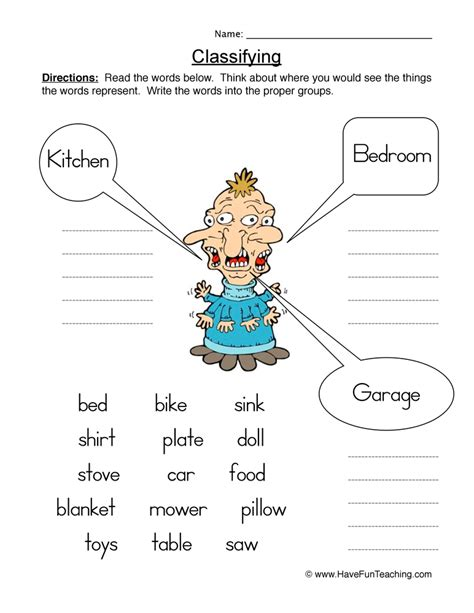 Classification Worksheet by 6th Grade Classification Worksheets 6th Grade