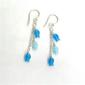 school earrings school of fish earrings glass and sterling silver nightowljewelry jewelry on