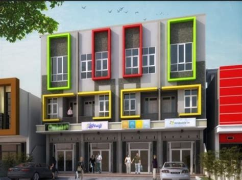 desain ruko minimalis modern  lantai rumah impian
