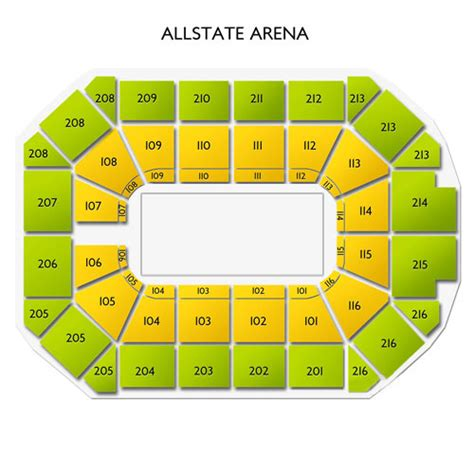 allstate arena seating chart allstate arena tickets allstate arena information