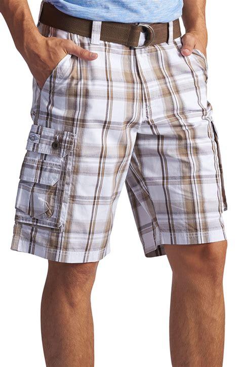 mens wyoming max plaid cargo shorts ebay