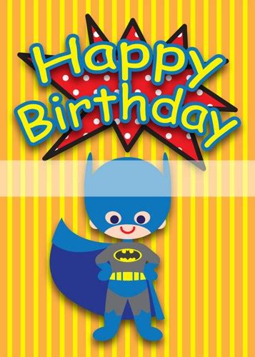 Printable Birthday Cards Superhero | printable clipart digital pdf file superhero 5 x 7 inch