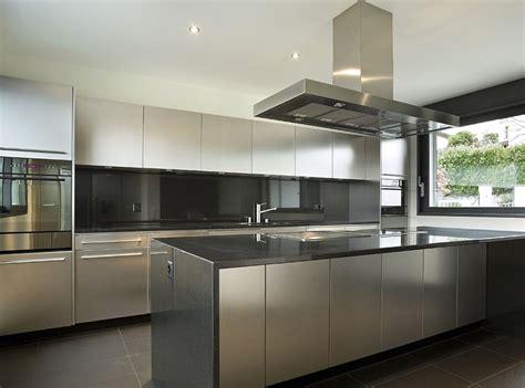 Exceptional Matte Black Kitchen Cabinets #2: Modern-kitchen-with-white-cabinets-dark-gray-countertop-and-backsplash.jpg