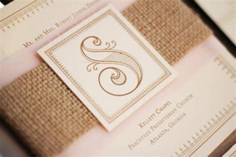 wedding invitations burlap items similar to vintage burlap wedding invitations on etsy