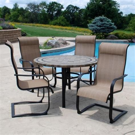 backyard creations 5 piece cascade falls dining collection