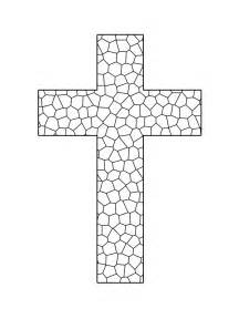 cross coloring pages stained glass cross printable coloring sheet sunday