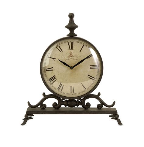 Vintage Retro Bulb Metal Iron Table Clock 4 Inches Jam Meja imax 27562 eilard iron table clock ix 27562