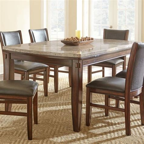 steve silver eileen marble top dining table with tapered