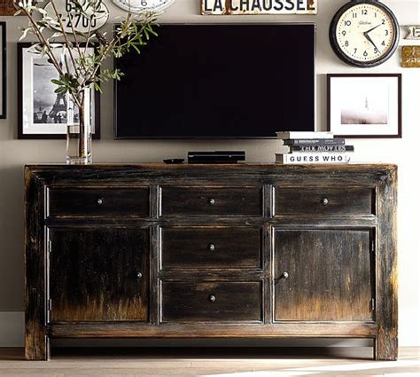 Cool Idea Of Having A Rustic Buffet Type Piece As Your Tv Tv Buffet Stand