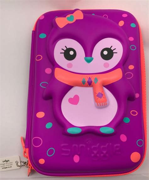 Smiggle 3 Zipper Hardtop Pencil 1 smiggle australia penguin beautiful fluorescent
