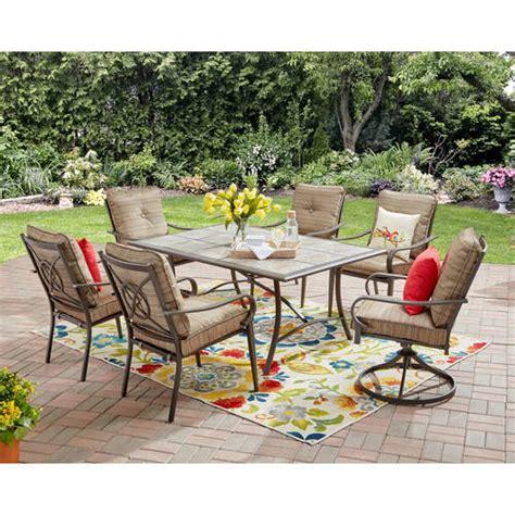 mainstays charleston park patio furniture collection
