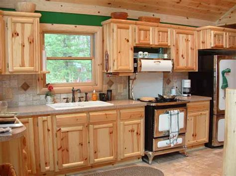 Kitchen Pine Cabinets How To Select Knotty Pine Kitchen Cabinets Cabinets And Vanities