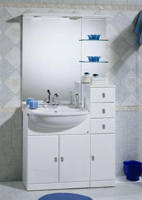 mobili bagno lavabo semincasso mobile bagno cleo bianco con lavabo a semincasso bh