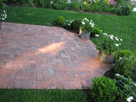 bricks for backyard brick patio on pinterest brick patios herringbone