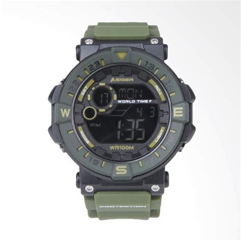 jual eiger character 4 0 jam tangan pria green