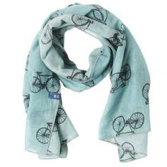 Syal Scarf Bicycle With Roses 1 clothing and accessories