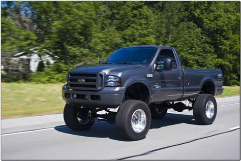 lifted ford  single cab   grew   rode
