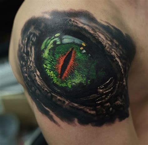 dragon eye tattoo eye guys shoulder best design ideas