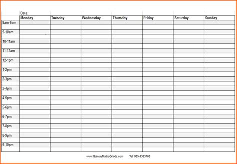 monthly time schedule template free printable blank daily schedule calendar template 2016