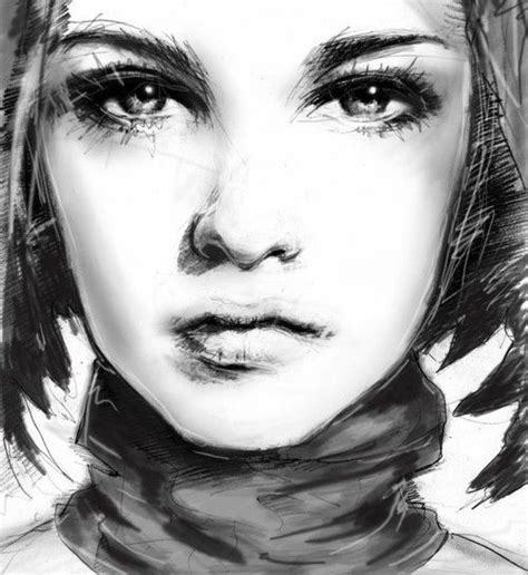 girl face drawing close up of girls face sketching artful pinterest