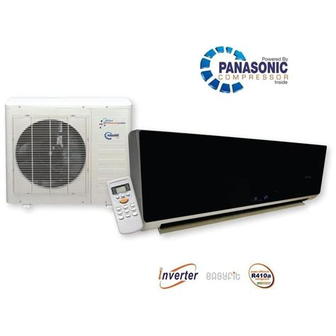 Ac Wall Mounted Panasonic kfr26 black gloss inverter air conditioner breathing space