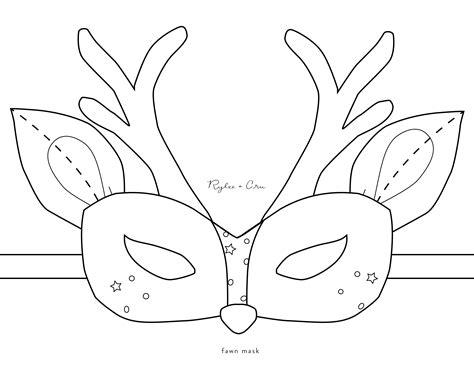 reindeer mask coloring page deer mask coloring pages