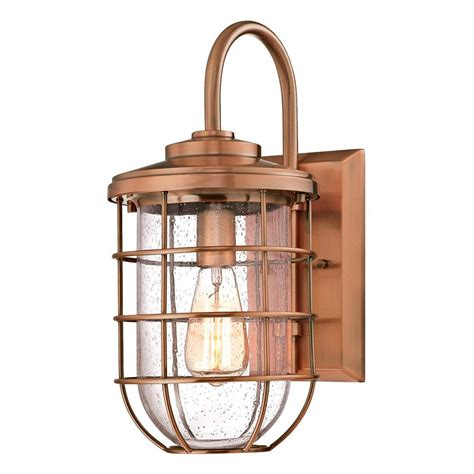 copper outdoor lights garage makeover