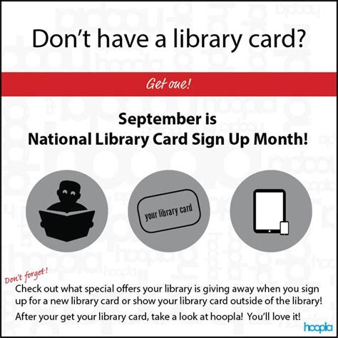 Dont Forget To Sign Up For The Gift Certificate by Don T Forget September Is National Library Card Sign Up