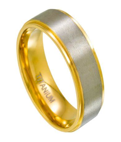 Mensanium Two Toned  Ee  Wedding Ee    Ee  Bands Ee   Gold Satin