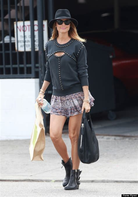 pregnant stacy keibler wears miniskirt out in los angeles