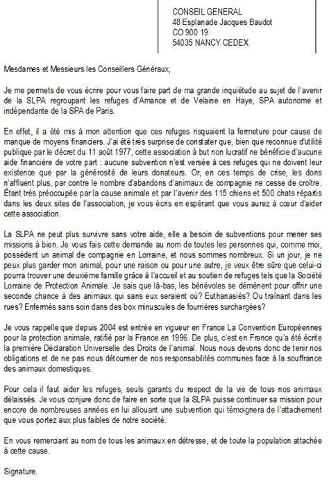 Demande De Subvention Association Lettre sos spa lorraine explications et actions 224 mener
