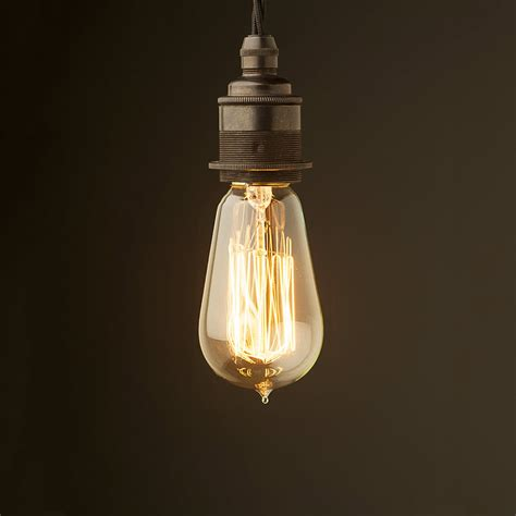 edison light edison style light bulb and e27 bronze fitting