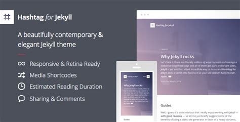 blog theme jekyll hashtag for jekyll an elegant blog theme by obest
