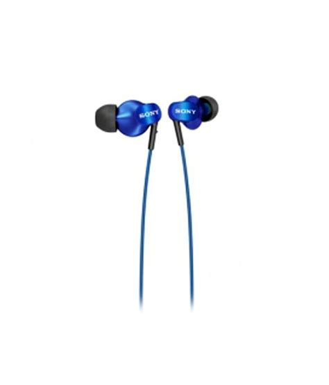 Headphone Sony In Ear Headphone Mdr Ex9lp Blue buy sony mdr ex220lp in ear earphones blue without mic at best price in india snapdeal