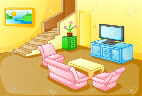 living room cartoon family in living room clipart 73