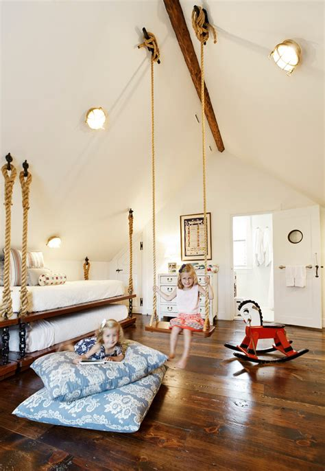swing in bedroom 26 cute beach style kid s bedroom design ideas