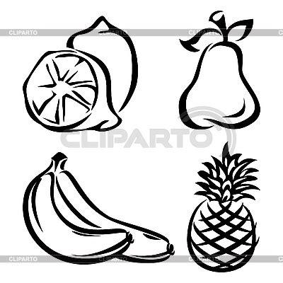fruta blanco y negro fotos de archivo imagen 18950683 iconos en blanco y negro serie de im 225 genes de alta