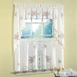 Tuscan Kitchen Curtains Valances Ashley Kitchen Valance Tier And Swag Ivory Decor