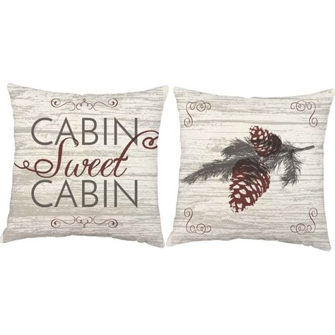 Cabin Sweet Cabin Pillow by Cabin Sweet Cabin Throw Pillows Sweet Fireplaces And