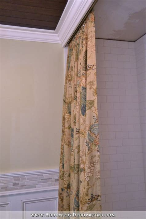 Decorative Shower Curtain by Diy Decorative Shower Curtain Finished And Installed