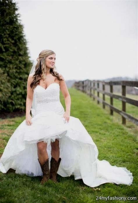 country style of the dresses country style wedding dresses with cowboy boots 2016