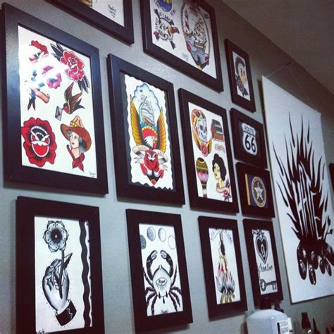 flash tattoo review tattoo flash wall at an unknown russian tattoo studio