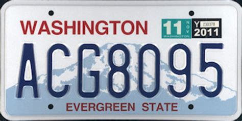 Vanity Plates Washington by The Official Washington State License Plate The Us50