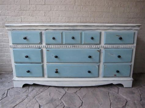 Refinishing Dresser by Custom Refinished Dresser White Provence Blue