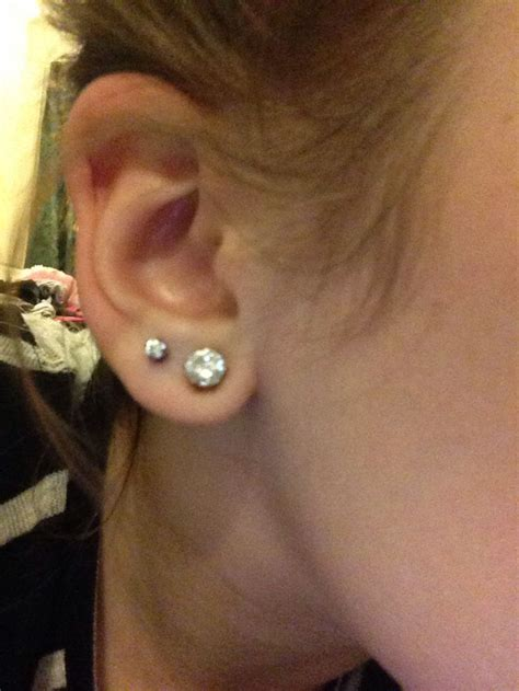 1000 ideas about second ear piercing on