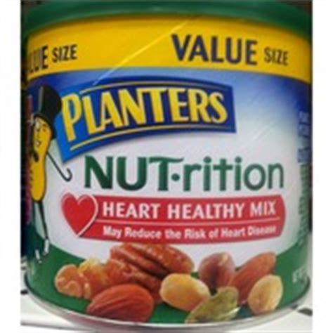 planters nut rition mix heart healthy mix calories