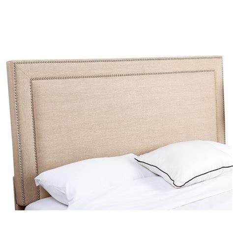 linen upholstered headboard queen abbyson living cora linen upholstered full queen headboard
