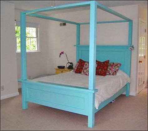 how to build a canopy bed ana white build a farmhouse bed canopy free and easy