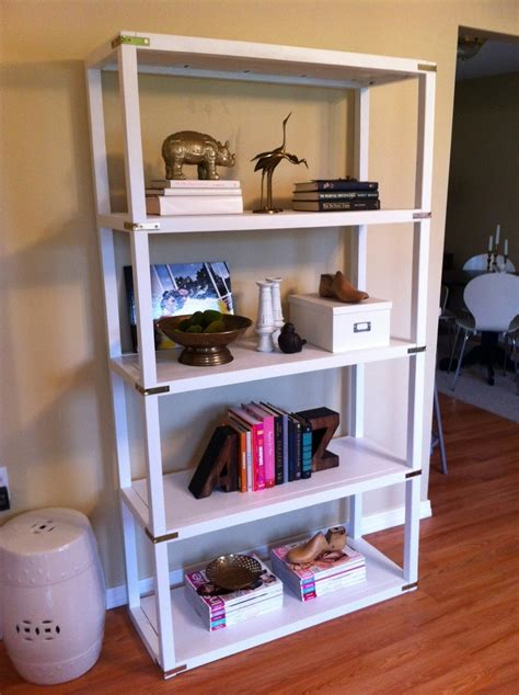diy caign inspired parsons style bookshelf cohesive